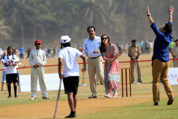 Sachin Tendulkar The Duke & Duchess of Cambridge Visit India & Bhutan - Day 1
