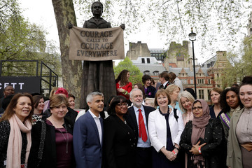 Sadiq Khan Jeremy Corbyn First Female Suffragette Millicent Fawcett Statue Unveiled In Parliament Square