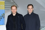"""Marc Warren andd Michael C. Hall attend """"Safe"""" Photocall during the 1st Cannes International Series Festival on April 11, 2018 in Cannes, France."""