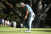 Danny Lee of New Zealand putts on the 13th hole during the final round of the Safeway Open at the North Course of the Silverado Resort and Spa on October 7, 2018 in Napa, California.