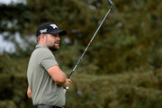 Ryan Moore plays his shot from the seventh tee during round one of the Safeway Open at the North Course of the Silverado Resort and Spa on October 4, 2018 in Napa, California.