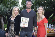 "Founder of Sakara Life Danielle Duboise, Josh Duhamel and founder of Sakara Life Whitney Tingle attend Sakara Life + Rothy's Celebrate ""Eat Clean Play Dirty"" Cookbook Launch on April 16, 2019 in Beverly Hills, California."