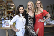 """Eva Longoria and Founders of Sakara Life Danielle Duboise and Whitney Tingle attend Sakara Life + Rothy's Celebrate """"Eat Clean Play Dirty"""" Cookbook Launch on April 16, 2019 in Beverly Hills, California."""