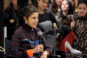 Leandra Medine speaks on stage at the Saks Fearless Women Speaker Series with Leandra Medine and Sandra Choi on October 16, 2018 in New York City.