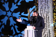 Alex Rodriguez speaks during the Saks Fifth Avenue Holiday Window Unveiling 2020 on November 23, 2020 in New York City.