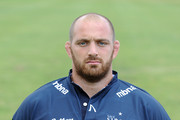 Aston Croall of Sale Sharks poses for a portrait at a team photocall held at Bank of America on August 16, 2011 in Chester, England.