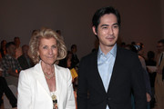 Giovanna Gentile Ferragamo and Vic Chou attend the Salvatore Ferragamo show as part of Milan Fashion Week Menswear Spring/Summer 2013 on June 24, 2012 in Milan, Italy.