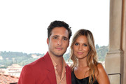 Diego Boneta and Mayte Rodriguez attend the Salvatore Ferragamo Private Dinner at Palazzo Vecchio during Pitti Immagine Uomo 96 on June 11, 2019 in Florence, Italy.