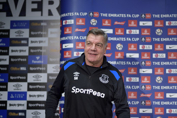 Sam Allardyce Everton Training and Press Conference