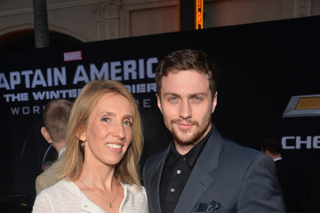 Sam Taylor-Wood Aaron Taylor-Johnson 'Captain America: The Winter Soldier' Premiere — Part 2