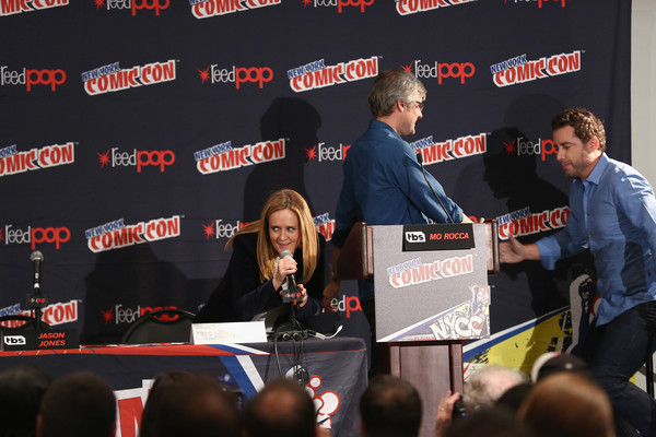 TNT Press Hours, Signings and Panels at New York Comic Con [comedy,event,stage equipment,news conference,media,games,samantha bee,jason jones,actors,couple,panels,signings,fireside chat,tnt press,new york comic con]