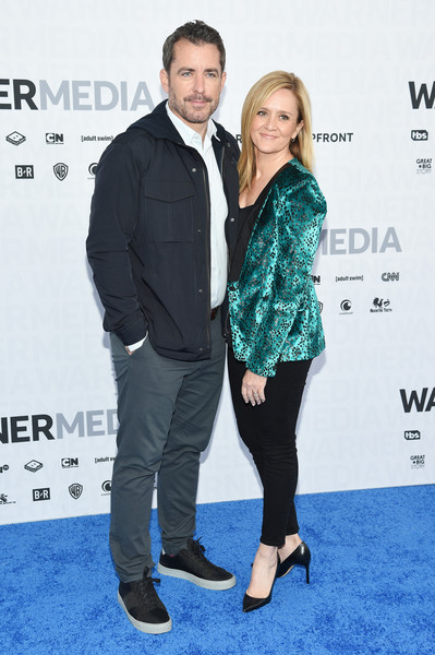 WarnerMedia Upfront 2019 - Arrivals [full frontal,green,premiere,carpet,red carpet,fashion,event,footwear,suit,flooring,fashion design,arrivals,jason jones,samantha bee,the detour,tbs\u00e2,red carpet,new york city,warnermedia,arrivals]