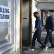 Samantha Cameron David Cameron Casts His Vote in the London Mayoral Election