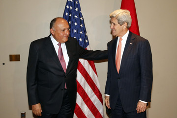 Sameh Shoukry Kerry Addresses Nuclear Nonproliferation Treaty Review Conference At UN