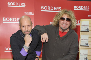 """Neil Strauss Sammy Hagar Signs Copies Of """"Red: My Uncensored Life In Rock"""""""
