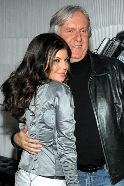 Fergie of the Black Eyed Peas and director James Cameron attends the Samsung 3D LED TV launch party with THE BLACK EYED PEAS at Time Warner Center on March 10, 2010 in New York City.