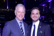 Boomer Esiason and Gunnar Esiason attend the Samsung Charity Gala 2018 at The Manhattan Center on September 27, 2018 in New York City.