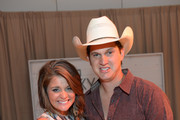 Lauren Alaina and Jon Pardi at the Samsung Galaxy Artist Lounge at the 2014 CMA Music Festival on June 5, 2014 in Nashville, Tennessee.