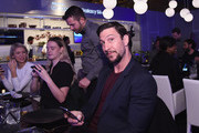 Pablo Schreiber attends the Samsung Galaxy S 6 edge launch in New York City on April 7, 2015 in New York City.
