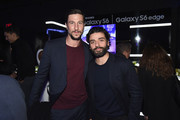 Pablo Schreiber and Ocar Isaac attends the Samsung Galaxy S 6 edge launch in New York City on April 7, 2015 in New York City.