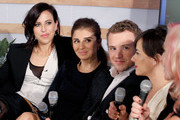 "(L-R) ""Un-Real"" executive producer Sarah Gertrude Shapiro, actors Shiri Appleby, Freddie Stroma, and Constance Zimmer, and executive producer Marti Noxon speak onstage at What's Trending Live in the Samsung Blogger Lounge during SXSW 2015 on March 16, 2015 in Austin, Texas."