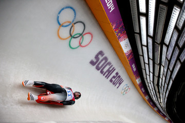 Samuel Edney Luge - Winter Olympics Day 2