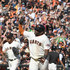 Pablo Sandoval Photos - Pablo Sandoval #48 of the San Francisco Giants celebrates as he trots around the bases after hitting a walk-off solo home run to defeat the San Diego Padres 5-4 at AT&T Park on October 1, 2017 in San Francisco, California. - San Diego Padres v San Francisco Giants