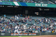 Nelson Cruz #23 of the Seattle Mariners runs the bases after hitting a home run, his 1,000th RBI, in the fifth inning off of the San Diego Padres at Safeco Field on September 12, 2018 in Seattle, Washington.