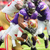 Everson Griffen Photos - Quarterback Jimmy Garoppolo #10 of the San Francisco 49ers is sacked by Everson Griffen #97 of the Minnesota Vikings in the first quarter of the game at U.S. Bank Stadium on September 9, 2018 in Minneapolis, Minnesota. - San Francisco 49ers vs. Minnesota Vikings