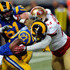 Tre Mason Photos - Tre Mason #27 of the St. Louis Rams is tackled by NaVorro Bowman #53 of the San Francisco 49ers in the fourth quarter at the Edward Jones Dome on November 1, 2015 in St. Louis, Missouri. - San Francisco 49ers v St Louis Rams