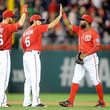 Adam LaRoche and Denard Span Photos