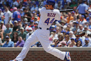 Anthony Rizzo #44 of the Chicago Cubs bats against the San Francisco Giants.at Wrigley Field on May 25, 2018 in Chicago, Illinois. The Cubs defeated the Giants 6-2.