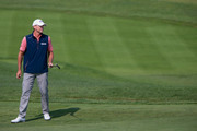 Steve Stricker putts on the 8th hole in the final round of the Sanford International at Minnehaha Country Club on September 23, 2018 in Sioux Falls, South Dakota.