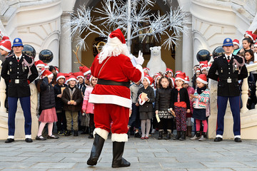 Santa Claus Christmas Gifts Distribution at Monaco Palace in Monte-Carlo