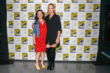 """Sara Vilkomerson Entertainment Weekly's """"Women Who Kick Ass - Icon Edition with Charlize Theron"""" panel at San Diego Comic Con 2017"""