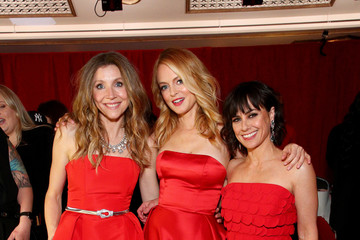 Sarah Chalke The American Heart Association's Go Red For Women Red Dress Collection 2020 - Backstage