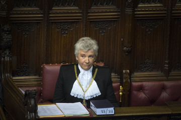 Sarah Clarke Houses of Parliament Welcome New Black Rod to Her Position