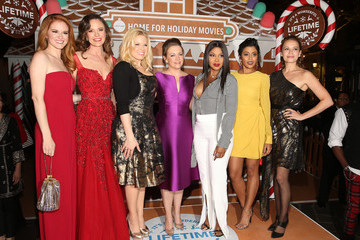 "Sarah Drew In Celebration Of ""It's A Wonderful Lifetime,"" Stars Of The Network's Christmas Movies Attend The VIP Opening Night Of The Life-sized Gingerbread House"