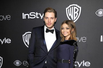 Sarah Hyland Dominic Sherwood The 2017 InStyle and Warner Bros. 73rd Annual Golden Globe Awards Post-Party - Red Carpet