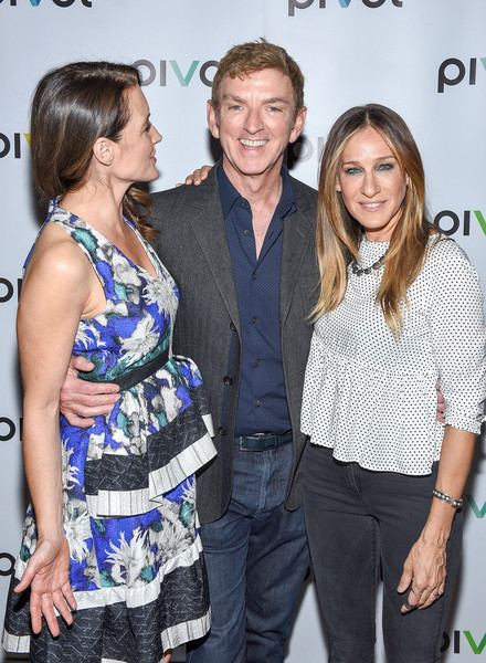 'Gardeners Of Eden' Special Screening [event,premiere,fashion,fashion design,smile,style,sarah jessica parker,michael patrick king,kristin davis,l-r,gardeners of eden special screening,new york city,norwood club]