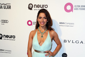 Sarah Shahi Celebrities Attend an Oscar Viewing Party