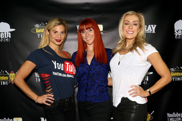 Sarah Storey Dani Elizabeth Murray SawChuck 1 Million YouTube Subscriber Red Carpet Golden Tiki