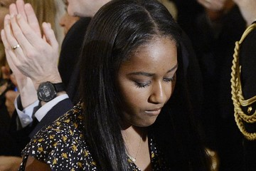 Sasha Obama President Obama Gives Tribute to VP Biden in the State Dining Room