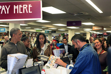Sasha Obama Obama Visits Local Bookstore On Small Business Saturday