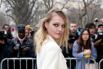 Sasha Pivovarova Celebs at the Chanel Runway Show