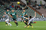 Andrea Lazzari # 21 of Udinese Caclio kicks toward the goal  during the Serie A match between US Sassuolo Calcio and Udinese Calcio on October 30, 2013 in Sassuolo, Italy.