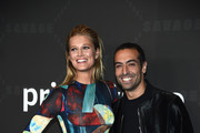 Toni Garrn and Mohammed Al Turki attend Savage X Fenty Show Presented By Amazon Prime Video - Arrivals at Barclays Center on September 10, 2019 in Brooklyn, New York.