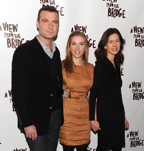 """A View From The Bridge"" Cast Meet And Greet [a view from the bridge,premiere,event,smile,liev schreiber,jessica hecht,scarlett johansson,etcetera etcetera restaurant,new york city,cast meet and greet,meet]"