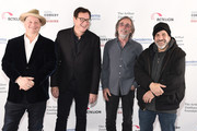 Jeff Ross, Bob Saget, Jackson Browne and Dave Attell attend Scleroderma Research Foundation's Cool Comedy - Hot Cuisine New York 2018 at Caroline's on Broadway on December 11, 2018 in New York City.