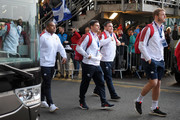 Ben Youngs of England arrives before the 2020 Guinness Six Nations match between Scotland and England at Murrayfield on February 08, 2020 in Edinburgh, Scotland.